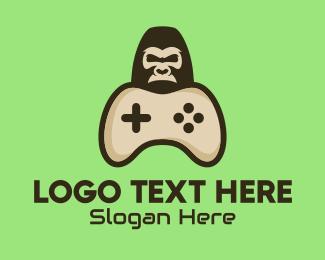 Game Stream - Gorilla Game Control logo design