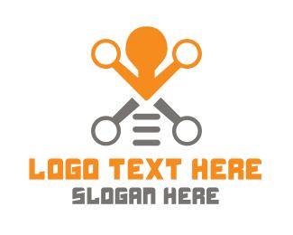 Creativity - Light Bulb Drone logo design