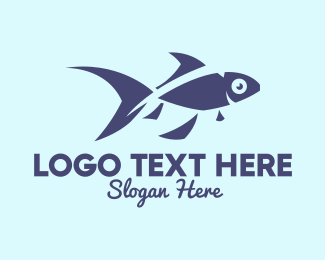 Marine Biodiversity - Blue Fish Fingerling  logo design