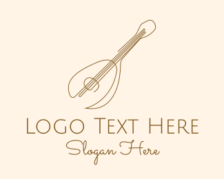 Banjo - Simple Ukulele Guitar logo design