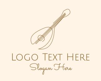 Riverside - Simple Ukulele Guitar logo design