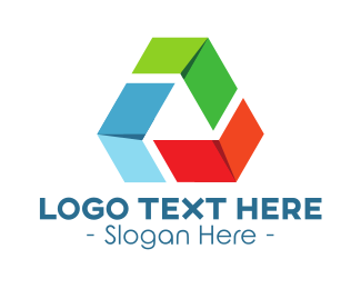 Biodegradable - Recycling Triangle logo design