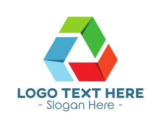Reuse - Recycling Triangle logo design