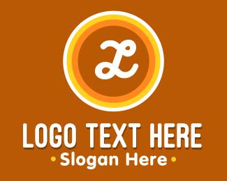 Mushroom - Hippie Circles logo design