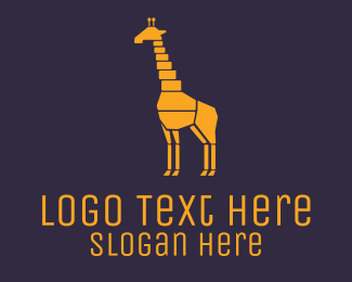 Preservation - Colorful Giraffe logo design
