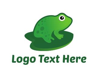 Green Frog - Pond Toad logo design