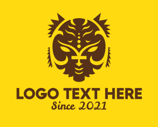 Tattoo - Tribal Sun Face Tattoo logo design