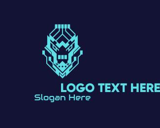 Neon Green - Neon Lion Tech logo design