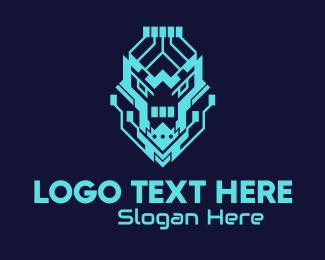 Twitch - Neon Lion Tech logo design