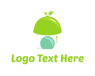 Lightening - Lemon Lamp logo design