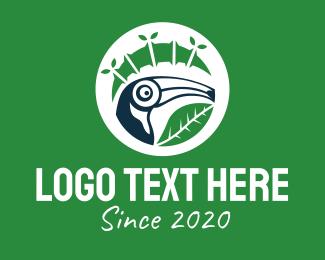 Bamboo - Toucan Bamboo Leaf logo design