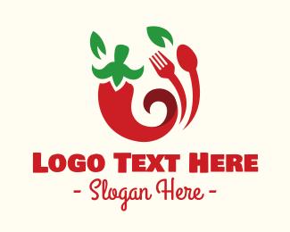 Yummy - Chili Restaurant Food logo design