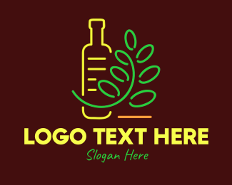 Neon Lights - Organic Neon Products logo design