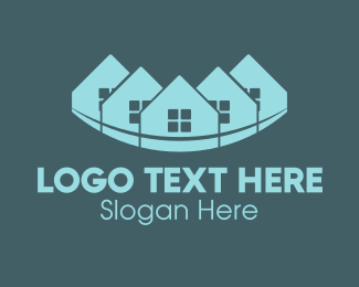 House Painting - Blue Town logo design