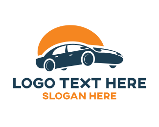 Driving - Sunrise Car logo design