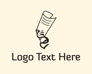 Newspaper - Tiger Paper logo design