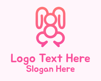 Number 8 - Rabbit Number 8 logo design