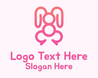 Number - Rabbit Number 8 logo design