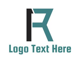 Number 1 - Number 1 Letter R logo design