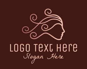 Maiden - Elegant Beauty Hairdresser logo design