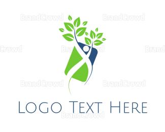 Human Tree - Human Plant logo design