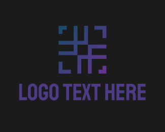 Abstract Hashtag Square Logo