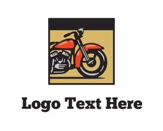 Rider - Red Motorcycle logo design