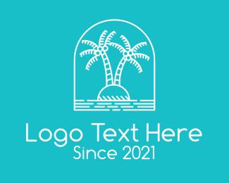 Coconut Tree - Coconut Tree Summer Island logo design