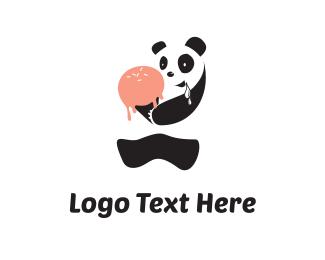 Popsicle - Drooling Panda logo design