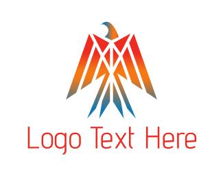 Cop - Abstract Eagle Mosaic logo design