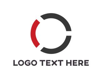 German - Black & Red Circle logo design