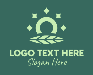 Ring - Leaf Shiny Ring logo design