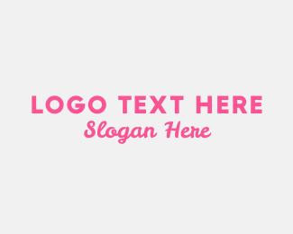 Cupcake Shop - Pink Feminine  logo design