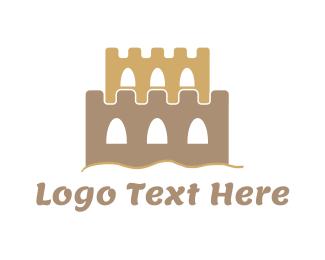 Sandbox - Sand Castle logo design