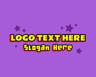 Acting - Cartoon Celebrity Star Text logo design