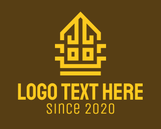 Temple - Golden Temple House logo design