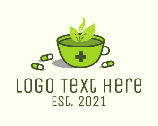 Antibiotic - Herbal Medicine Tea logo design