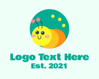Caterpillar - Cute Nursery Caterpillar  logo design