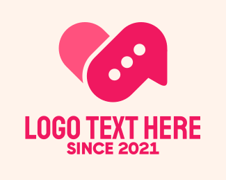 Dating - Pink Dating Chat Application logo design