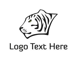 Fear - White Tiger logo design