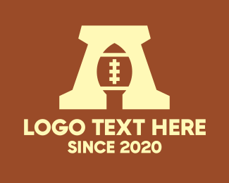 Nfl - American Football Ball Letter A logo design