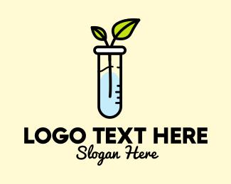Tube - Experimental Test Tube Plant logo design