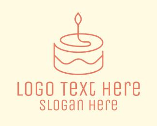 Minimal - Minimal Birthday Cake logo design