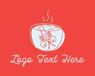 Soup - Lobster Soup logo design