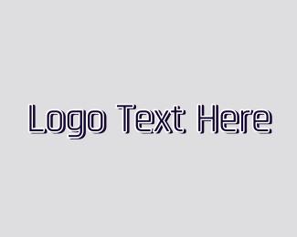 Gymnasium - Metallic Wordmark logo design