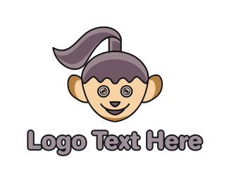 Cartoon - Playful Cartoon Doll logo design