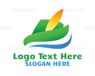 Feather - Abstract Feather Hat logo design