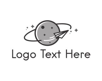 Saturn - Paper Rocket logo design