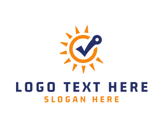 Free - Sun Check logo design