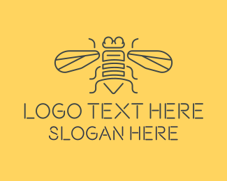 Bumble Bee - Honeybee Bee logo design